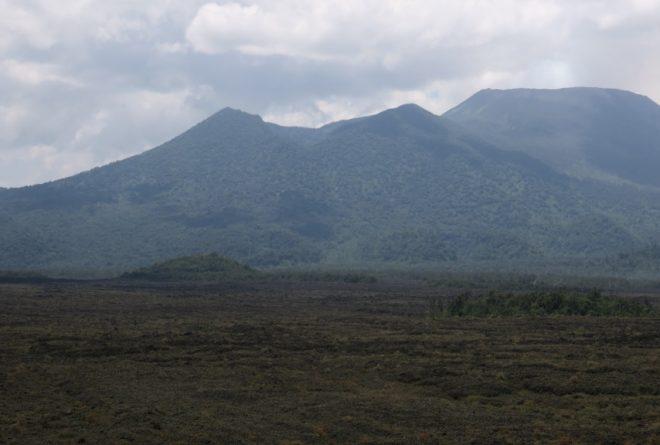 Le Nyamulagira, l'un des deux volcans actifs au Nord-Kivu